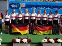 Mara Kölker (3. von links) bei der Siegerehrung.