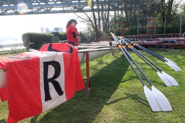Vorbereitung zur Bootstaufe des 'Wellenbrechers'